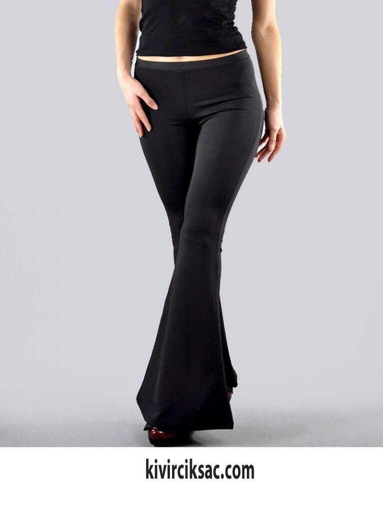 Dalgıç Kumaş İspanyol Paça Pantolon Modelleri